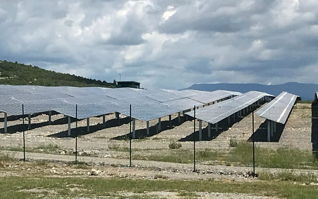 Solar park ground mounted in France