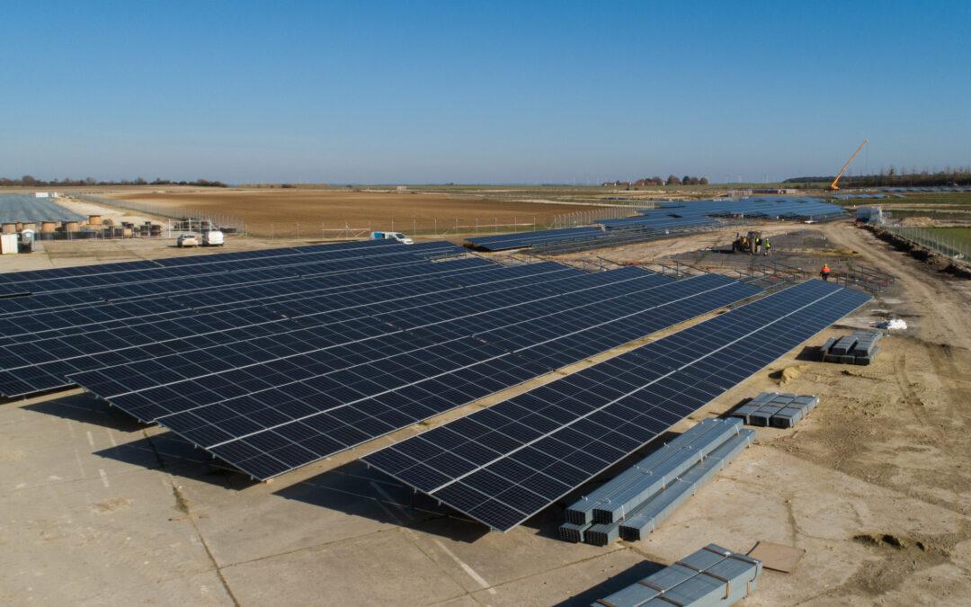 Parque fotovoltaico en región de Laon: los trabajos avanzan bien