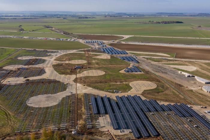 Solar plant under construction